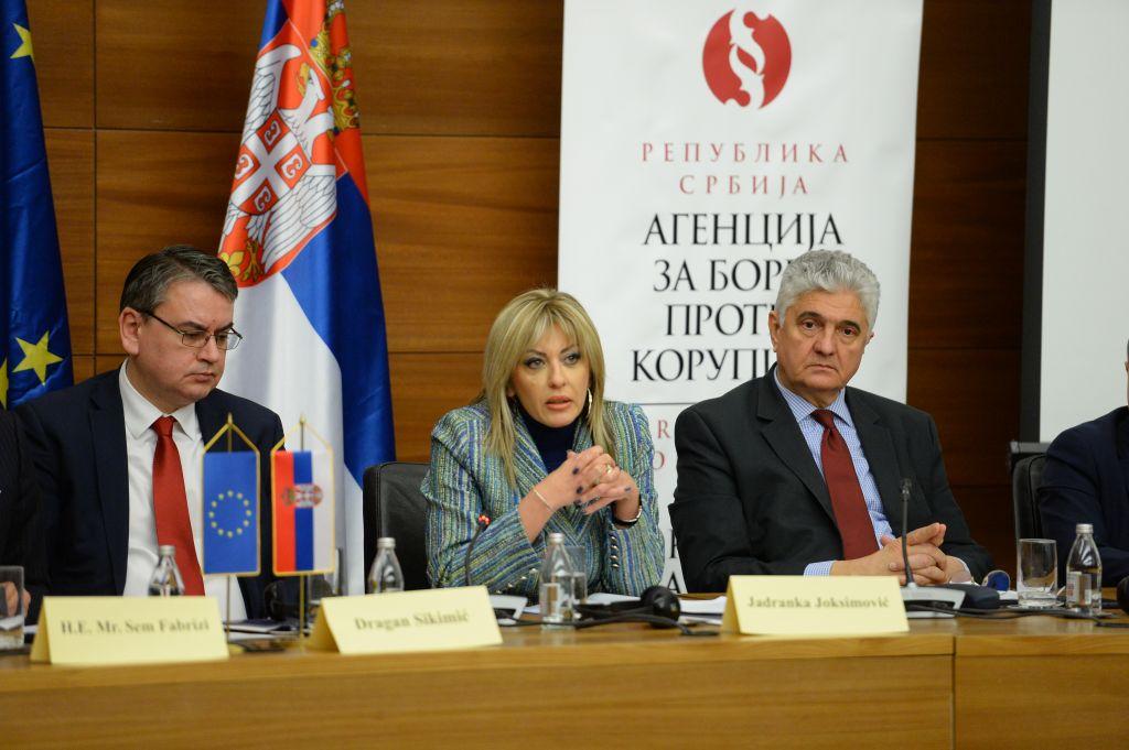 J. Joksimović: Jasna politička volja Vlade Srbije za borbu protiv korupcije