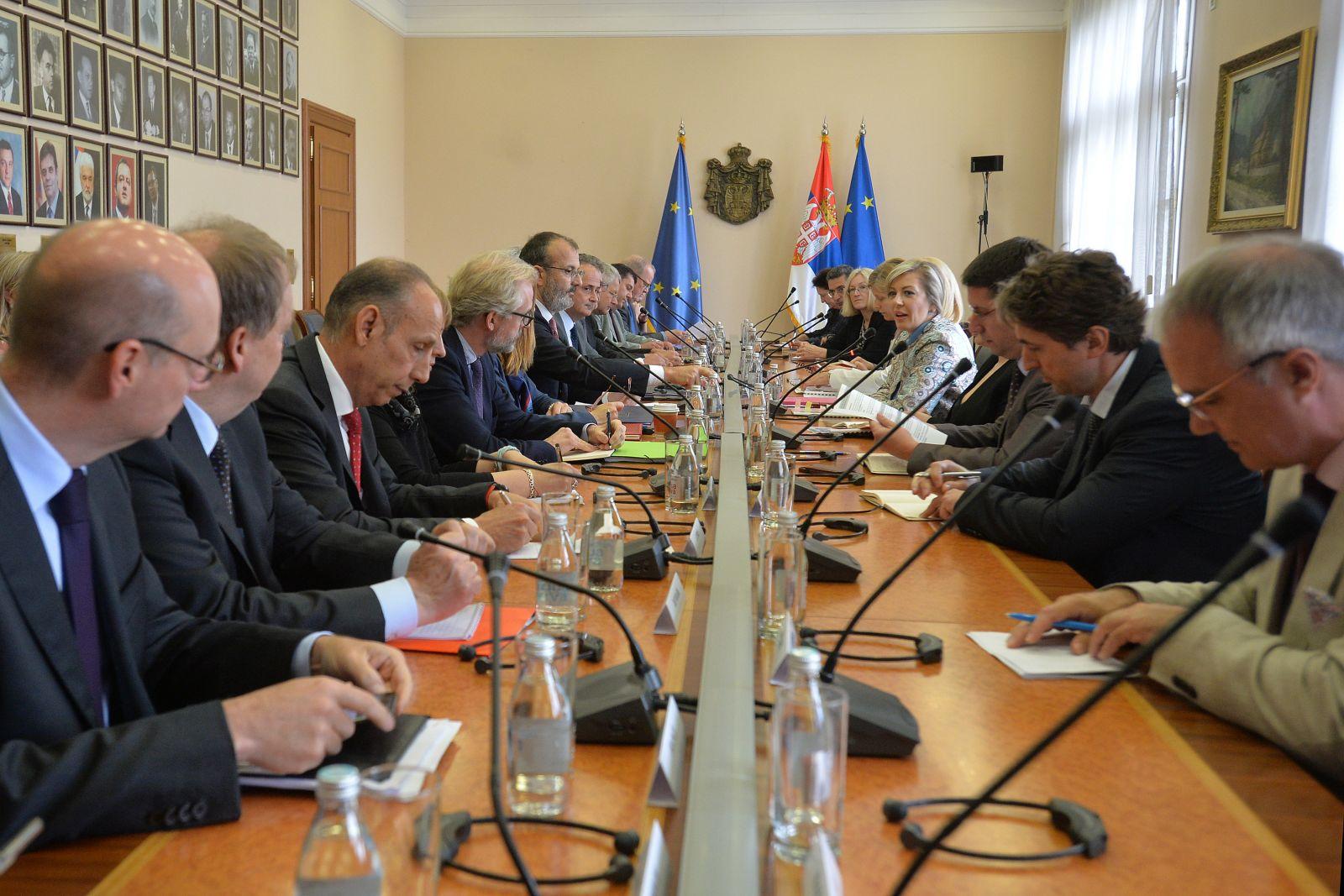 J. Joksimović sa ambasadorima država EU i šefom Delegacije o Izveštaju Evropske komisije