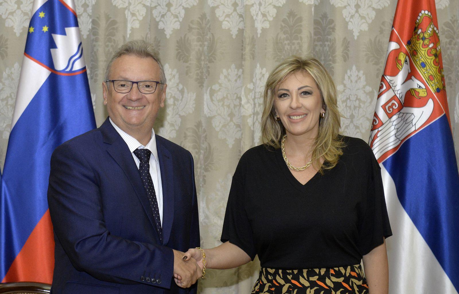 Ј. Јоксимовић и Јарц: Конкретна подршка Словеније европским интеграцијама Србије