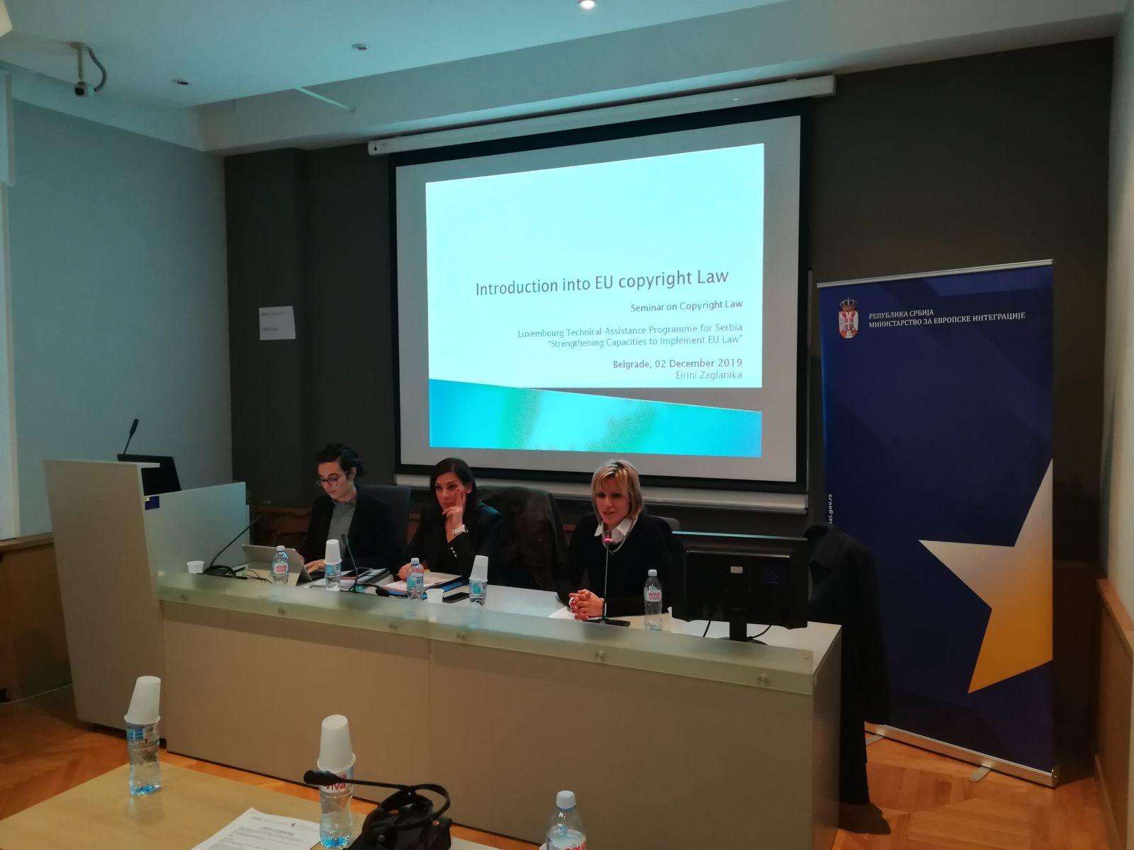 Otvoren seminar o autorskom pravu