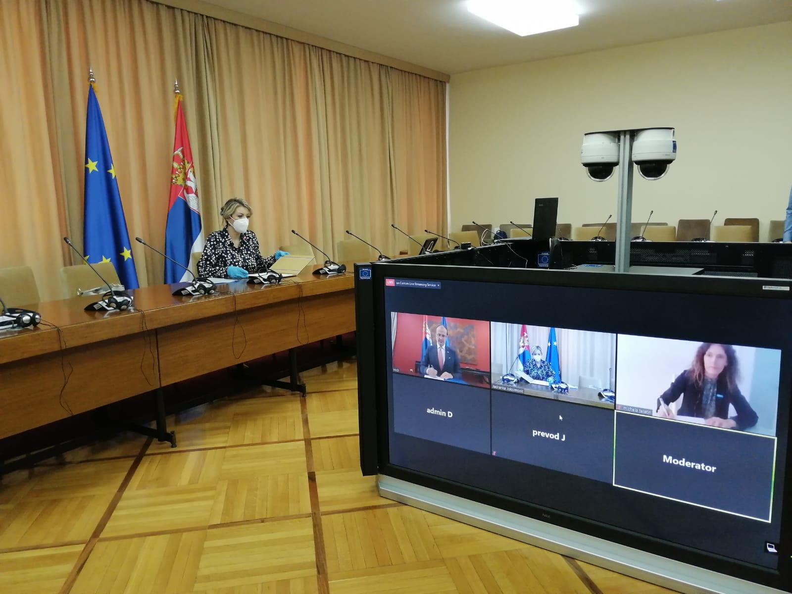 Ј. Јоксимовић: Нова донација ЕУ за хитну набавку медицинске опреме