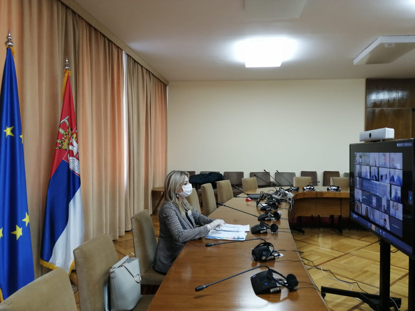 J. Joksimović and EU ambassadors on fight against COVID-19