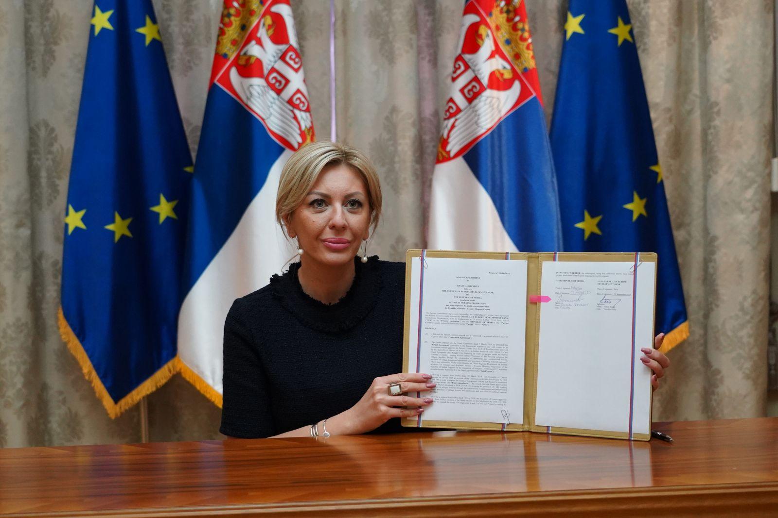 Ј. Јоксимовић: Четири милиона евра за стамбено збрињавање избеглица