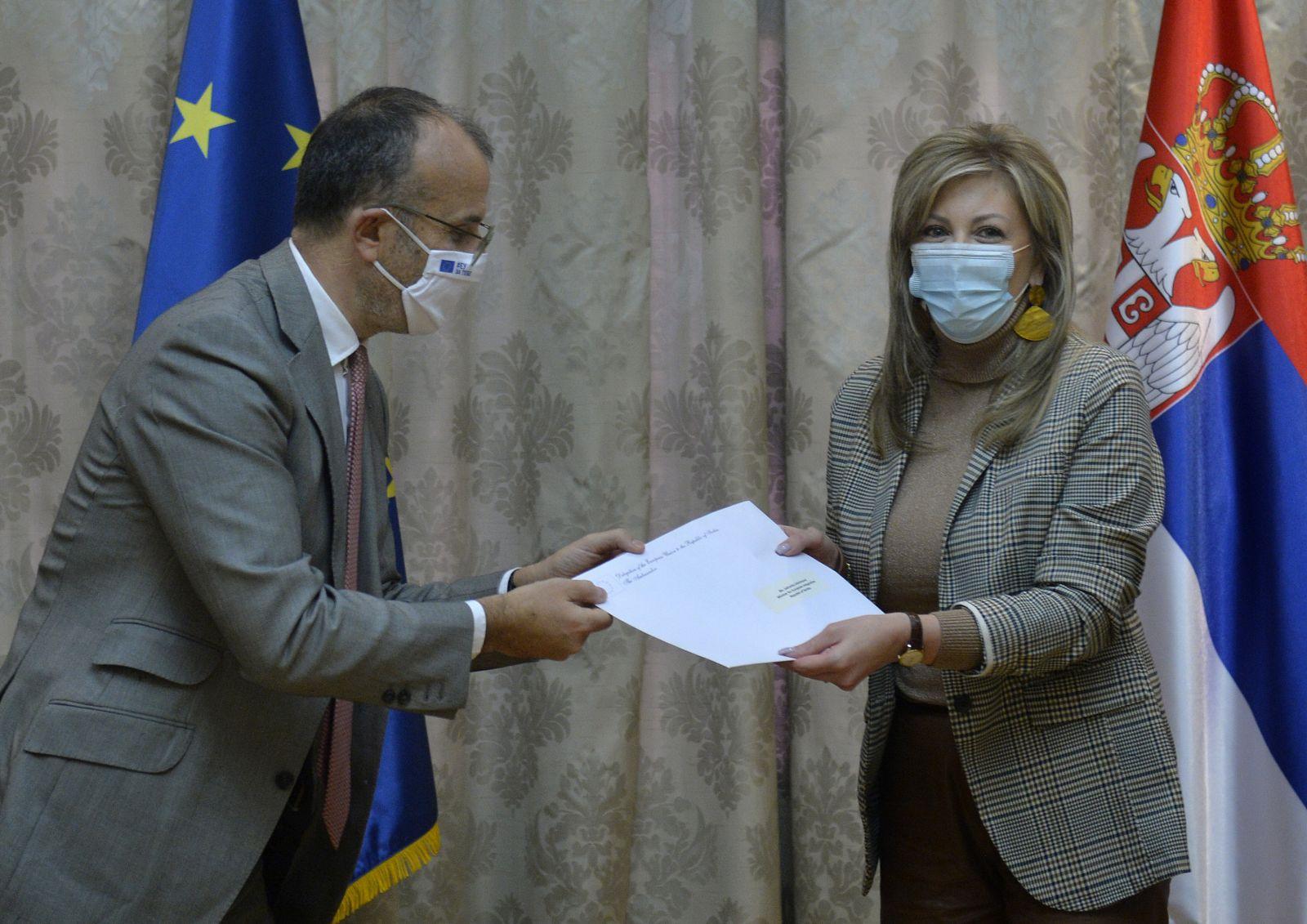 Joksimović i Fabrici o predstojećim koracima u evropskoj agendi