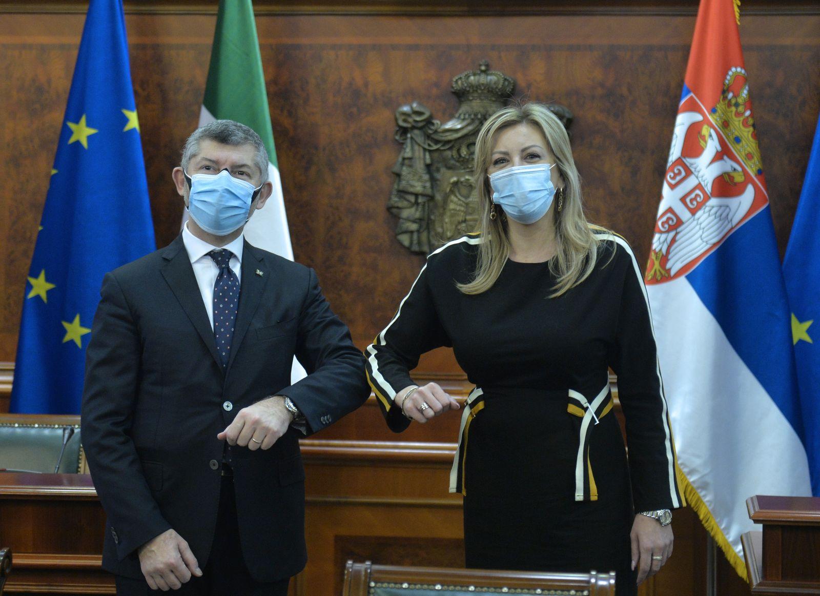 Joksimović i Skalfaroto o podršci i solidarnosti SRB i IT