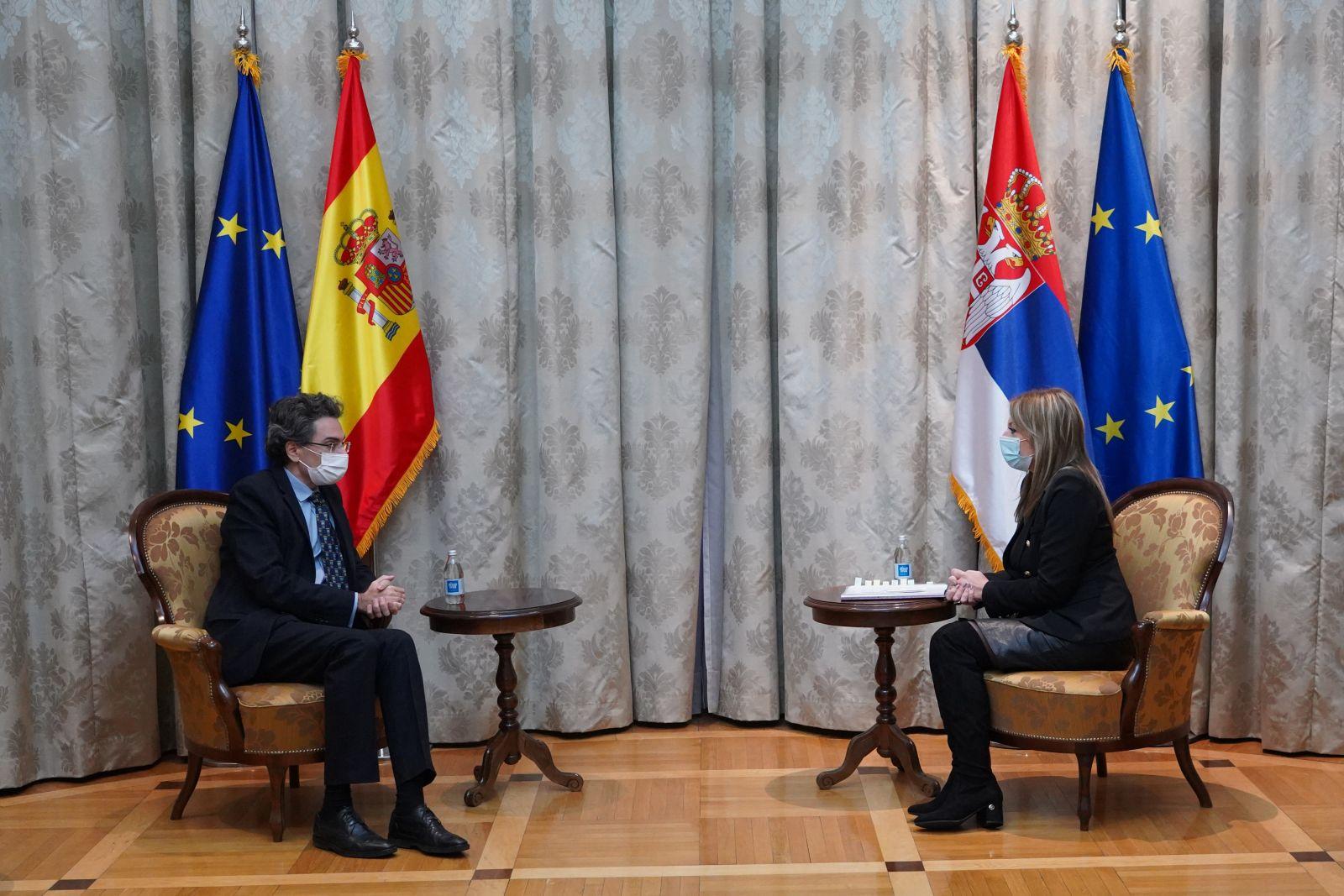 Ј. Јоксимовић: Активна подршка Шпаније европском путу Србије