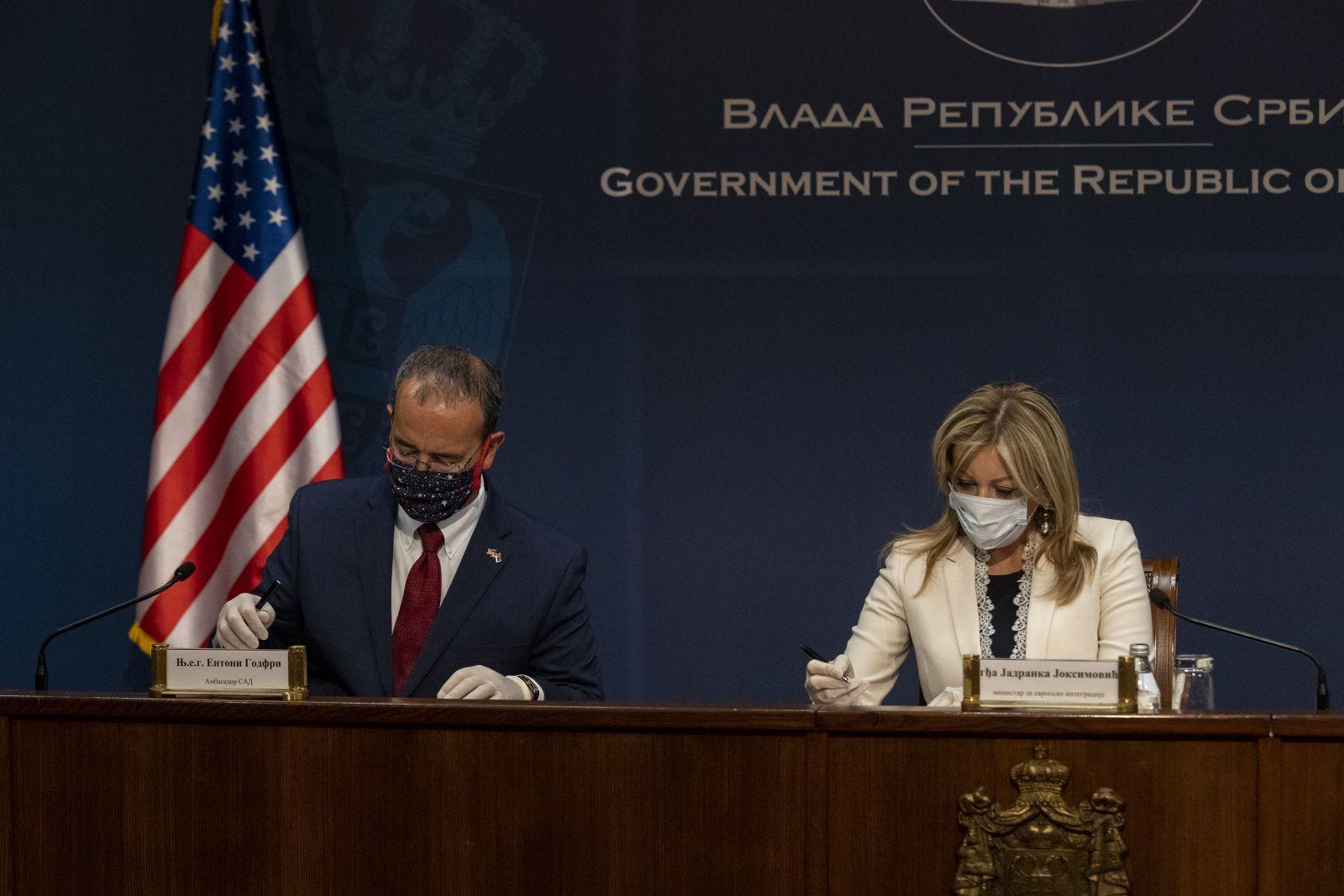 Ј. Јоксимовић: Између Србије и САД постоји дијалог о отвореним питањима