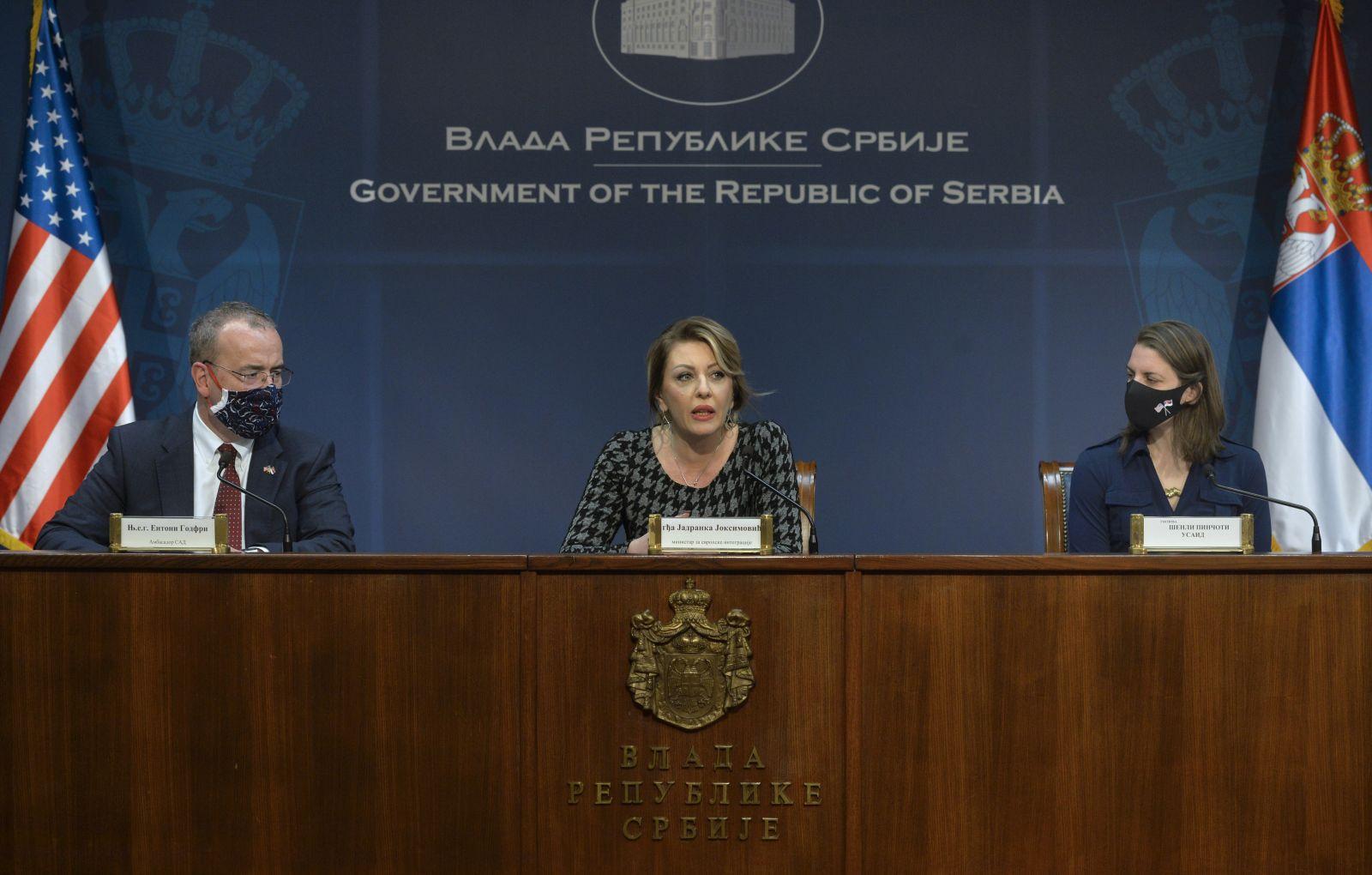 Ј. Јоксимовић: УСАИД донира још 22 милиона долара Србији за реформе