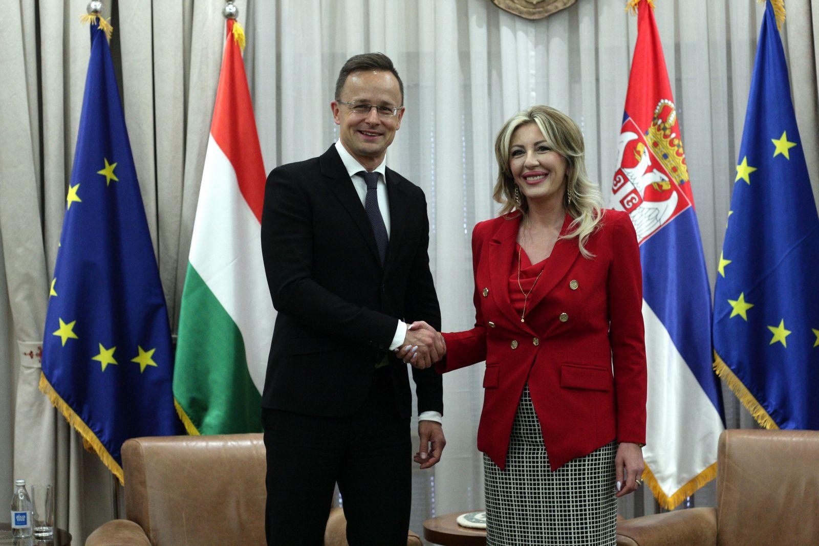 Joksimović and Szijjártó: Hungary strongly supports acceleration of Serbia's European integration