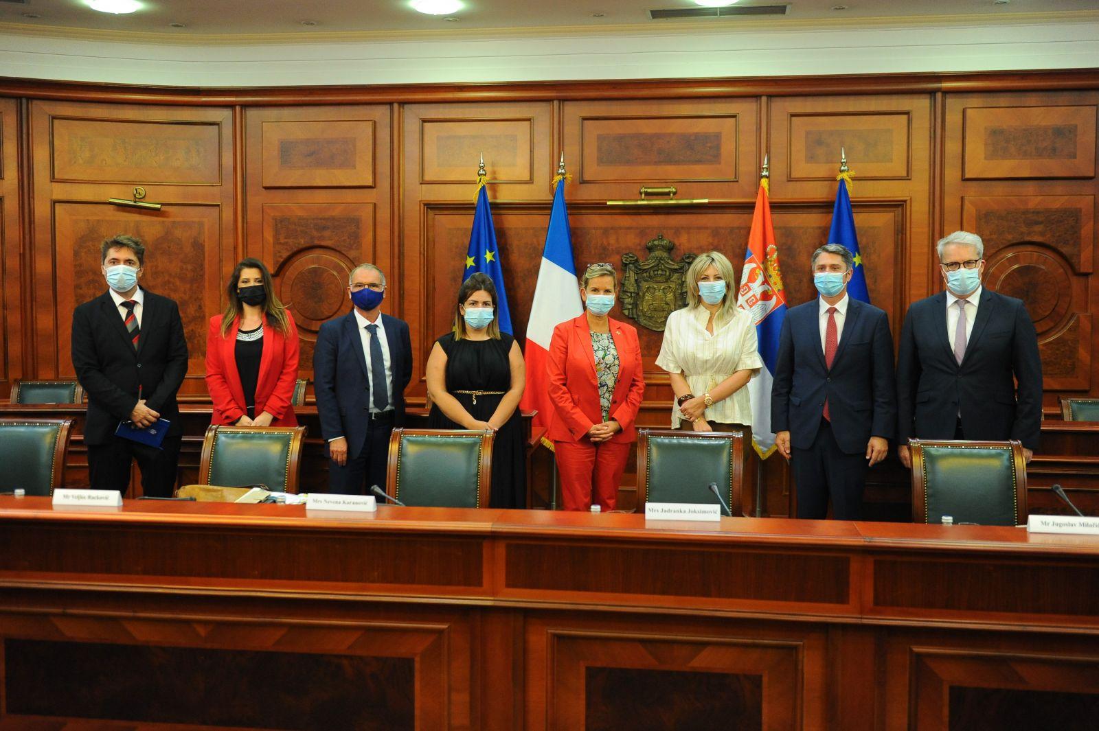 J. Joksimović with French Senate members on various topics