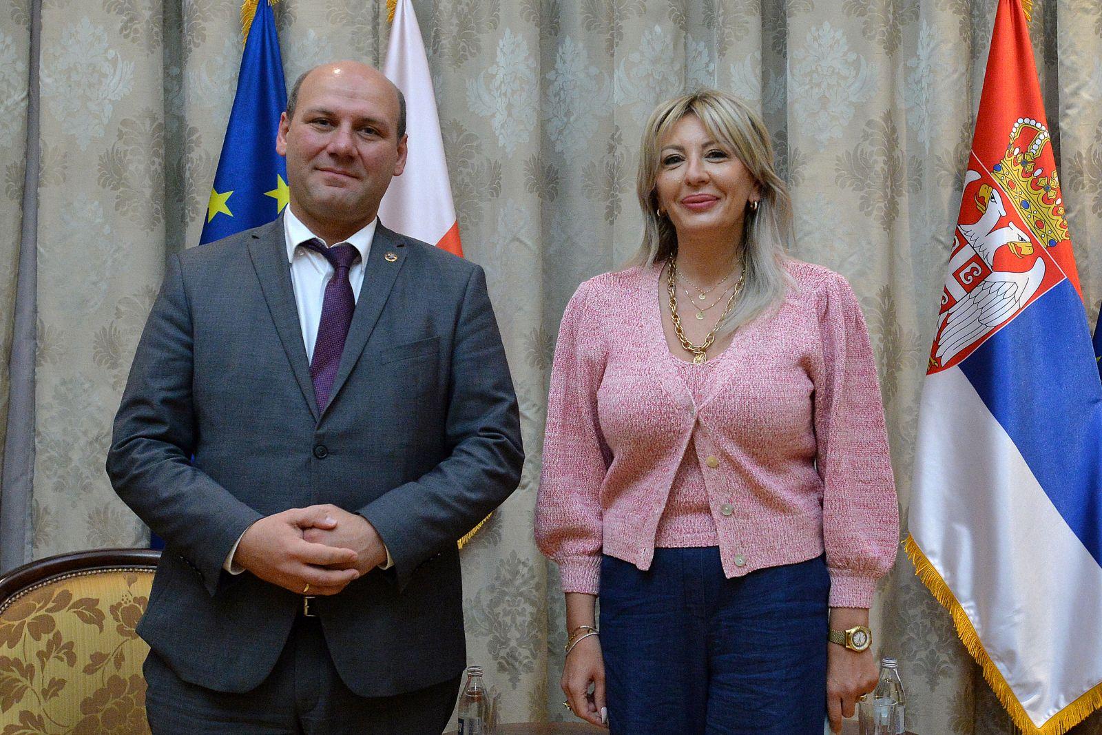 Ј. Јоксимовић и Шинковски вел Сенк: Јачање сарадње две земље