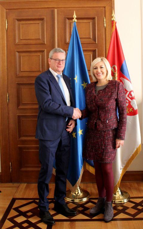 Ј. Јоксимовић и Ајгнер: Аустрија ће наставити да снажно подржава ЕУ пут Србије