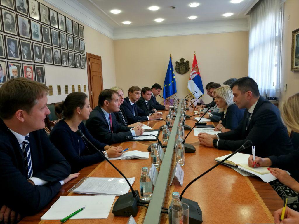 Ministri Joksimović i  Đorđević sa delegacijom FRONTEKS-a o nastavku saradnje