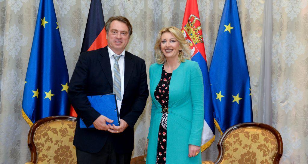 Ј. Јоксимовић и Осовски: Немачка охрабрује наставак реформи у Србији