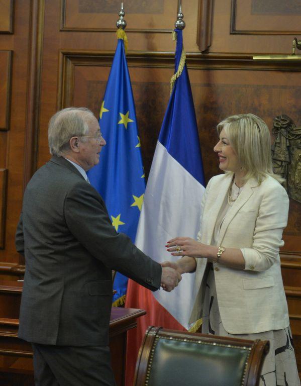 J. Joksimović i senatori iz Francuske o evropskim integracijama Srbije