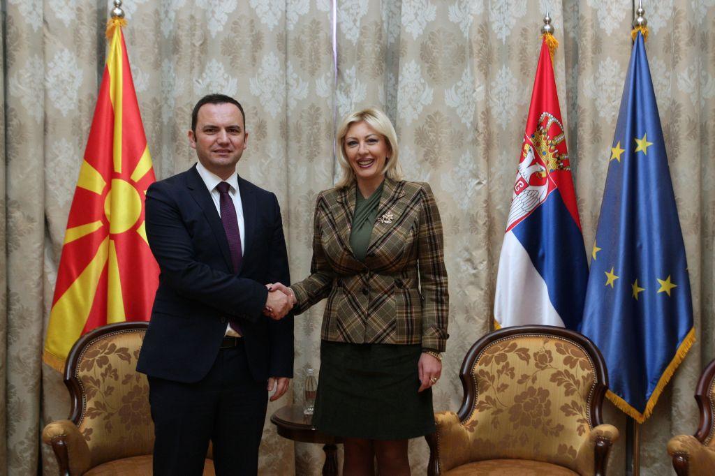 Ј. Јоксимовић: Србија ће помоћи ЕУ интеграције Македоније