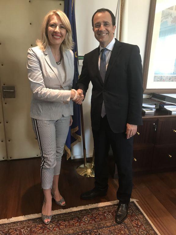 Ј. Јоксимовић: Имамо пуну подршку Кипра на путу ка ЕУ
