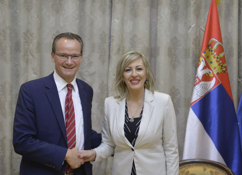 Ј. Јоксимовић и Крихбаум: Немачка важан партнер Србије у процесу евроинтеграција