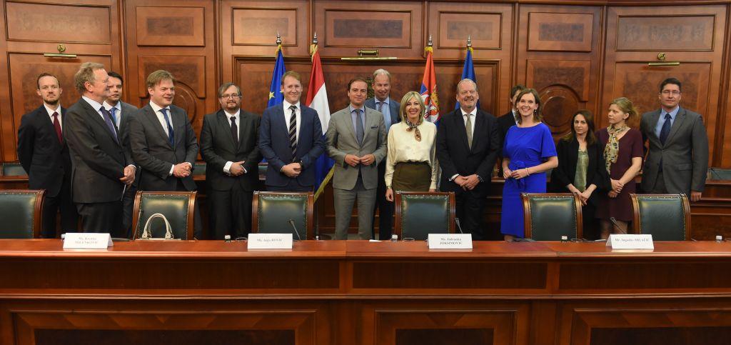 Ј. Јоксимовић и холандски парламентарци: Подршка наставку реформи