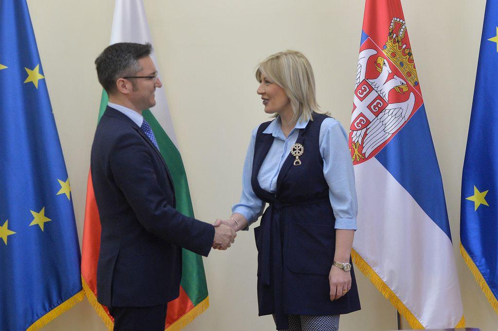 Ј. Јоксимовић и Вигенин: Бугарска важан партнер Србије у наставку процеса европских интеграција