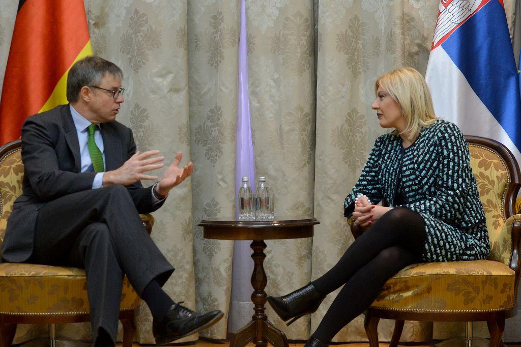 Ј. Јоксимовић и Дитман: Наставак реформи најважнији за напредак Србије на европском путу