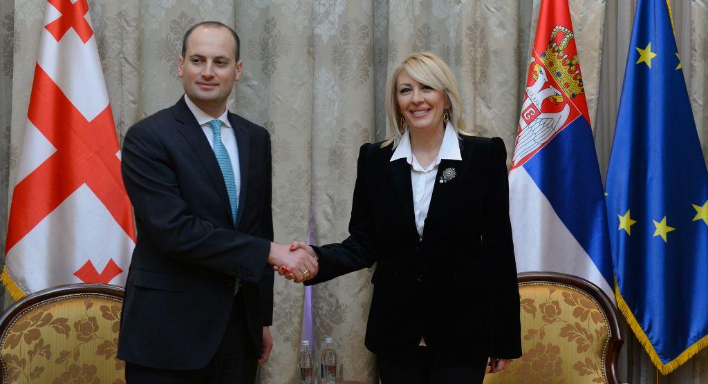 Ј. Јоксимовић: Европска перспектива унапређује односе Србије и Грузије