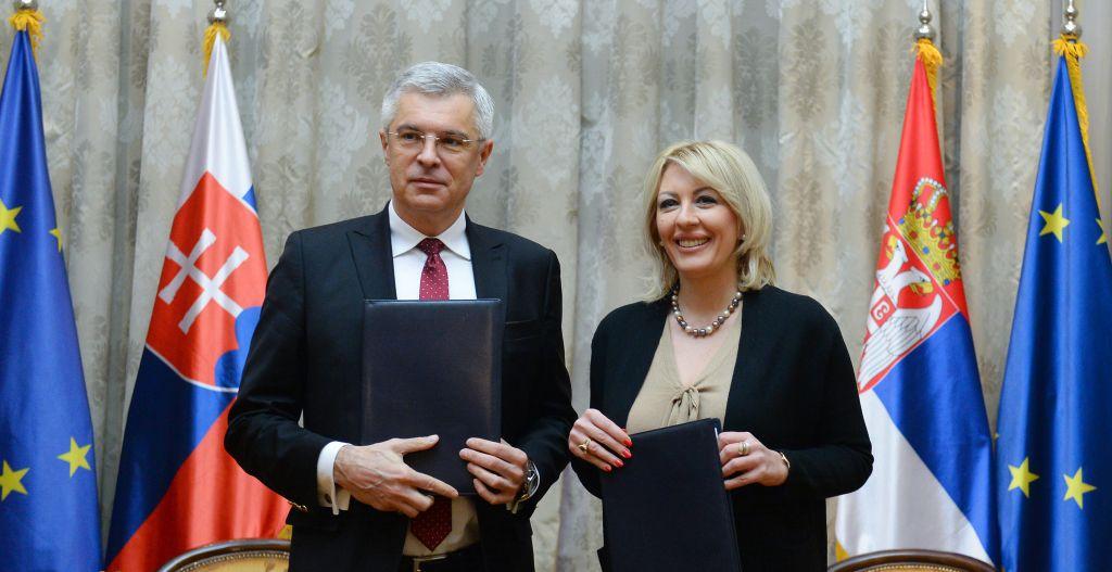 Ј. Јоксимовић: Конкретна подршка Словачкe на ЕУ путу Србије