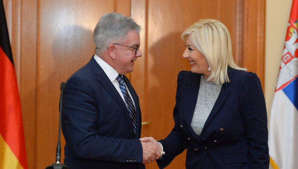 Ј. Јоксимовић и Г. Волф: Снажна подршка Немачке реформама и ЕУ путу Србије