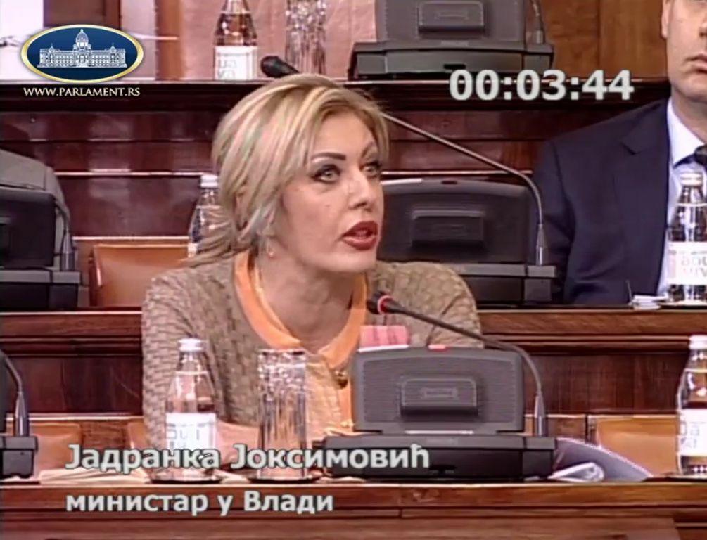 Ј. Јоксимовић: Штета што ЕП није коментарисао намере Тиране и Приштине