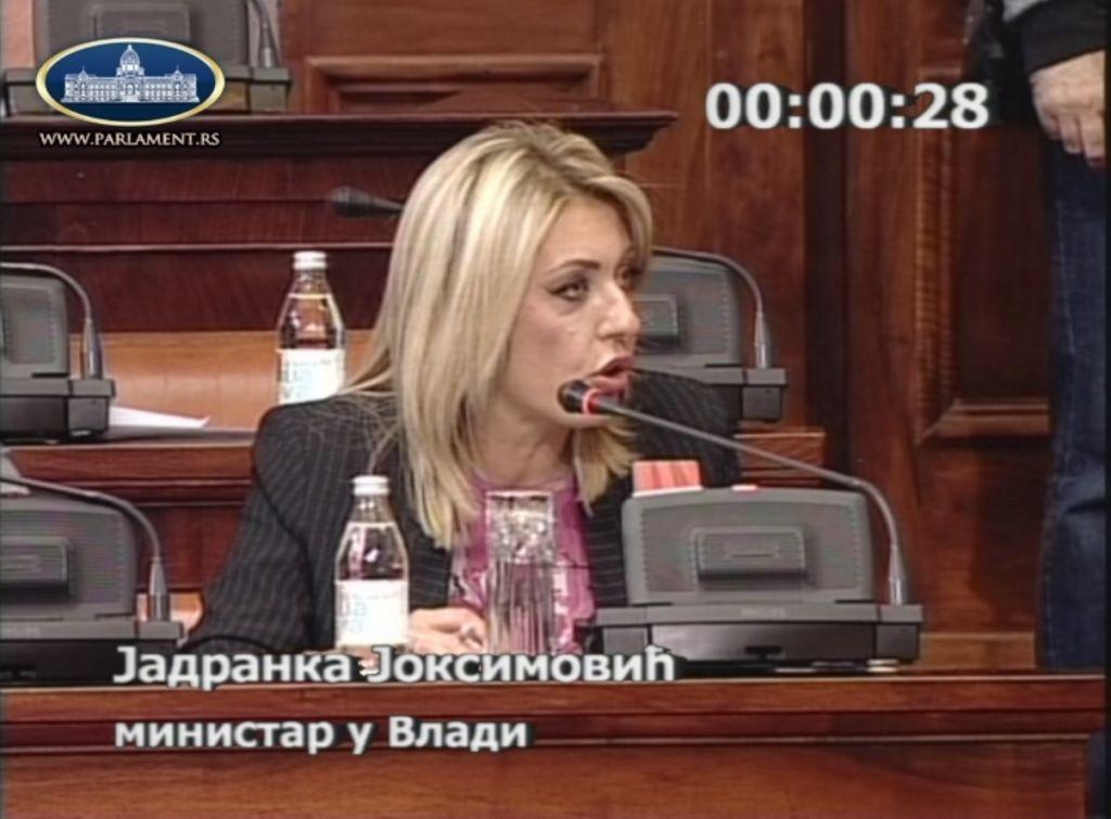 Ј. Јоксимовић опозицији: Ваша политика је доживела крах