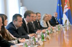 Делегације Републике Србије и Украјине на пленарном састанку у Београду