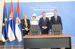 Министар за европске интеграције Јадранка Јоксимовић и покрајински секретар за регионални развој, међународну регионалну сарадњу и локалну самоуправу Огњен Бјелић потписали су Споразум о сарадњи у области европских интеграција