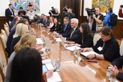Meeting of the President of the Republic of Serbia Aleksandar Vučić and Minister of European Integration Jadranka Joksimović with the Prime Minister of the German federal state Baden-Württemberg Winfried Kretschmann