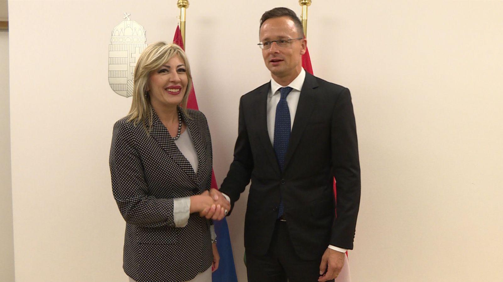 Снажна подршка Мађарске процесу европских интеграција Србије