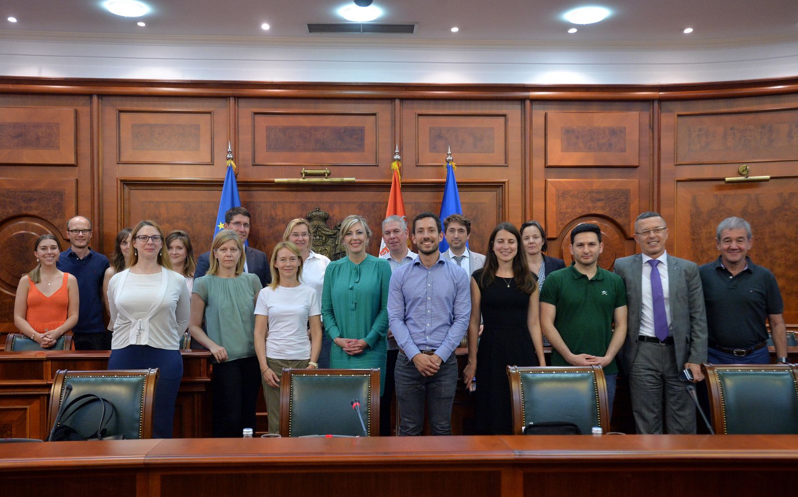 J. Joksimović with the delegation in charge of Serbia at the EU Directorate-General for Neighbourhood and Enlargement Negotiations