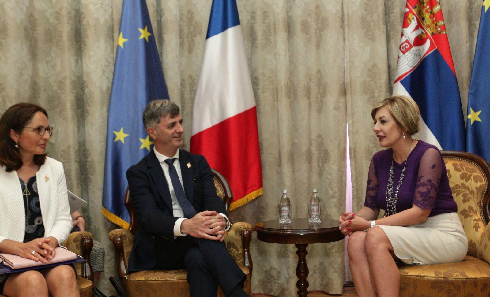 Ј. Јоксимовић и парламентарци Француске: Србија конструктиван партнер ЕУ