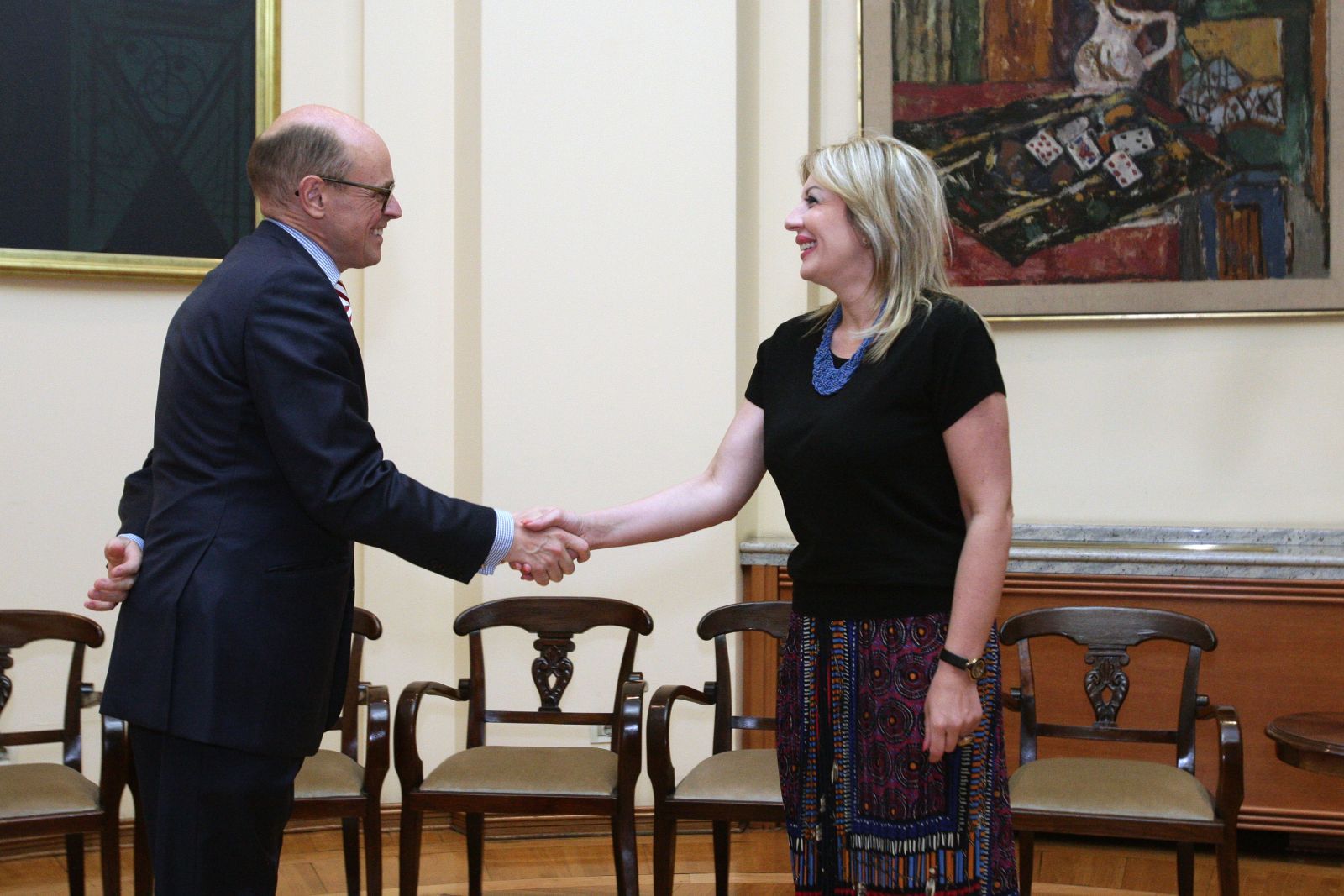 J. Joksimović primila u oproštajnu posetu ambasadora Norveške