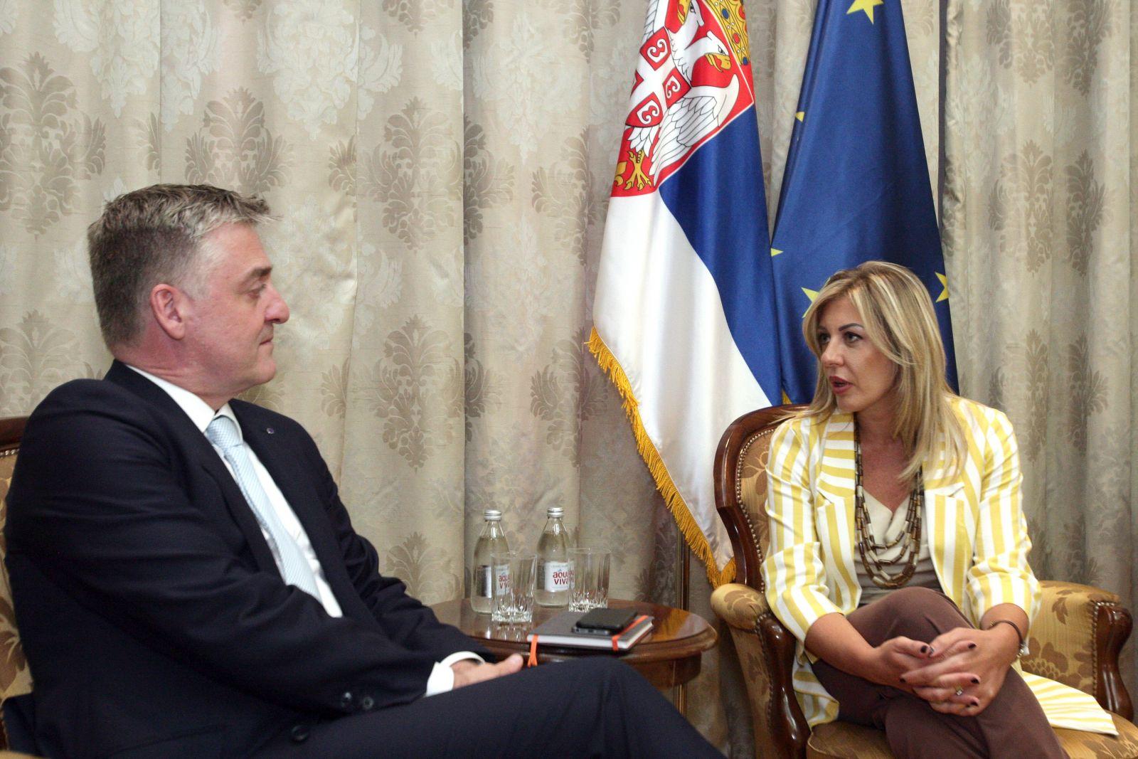 Ј. Јоксимовић и Флесенкемпер: Експертске препоруке Савета Европе важне за Србију