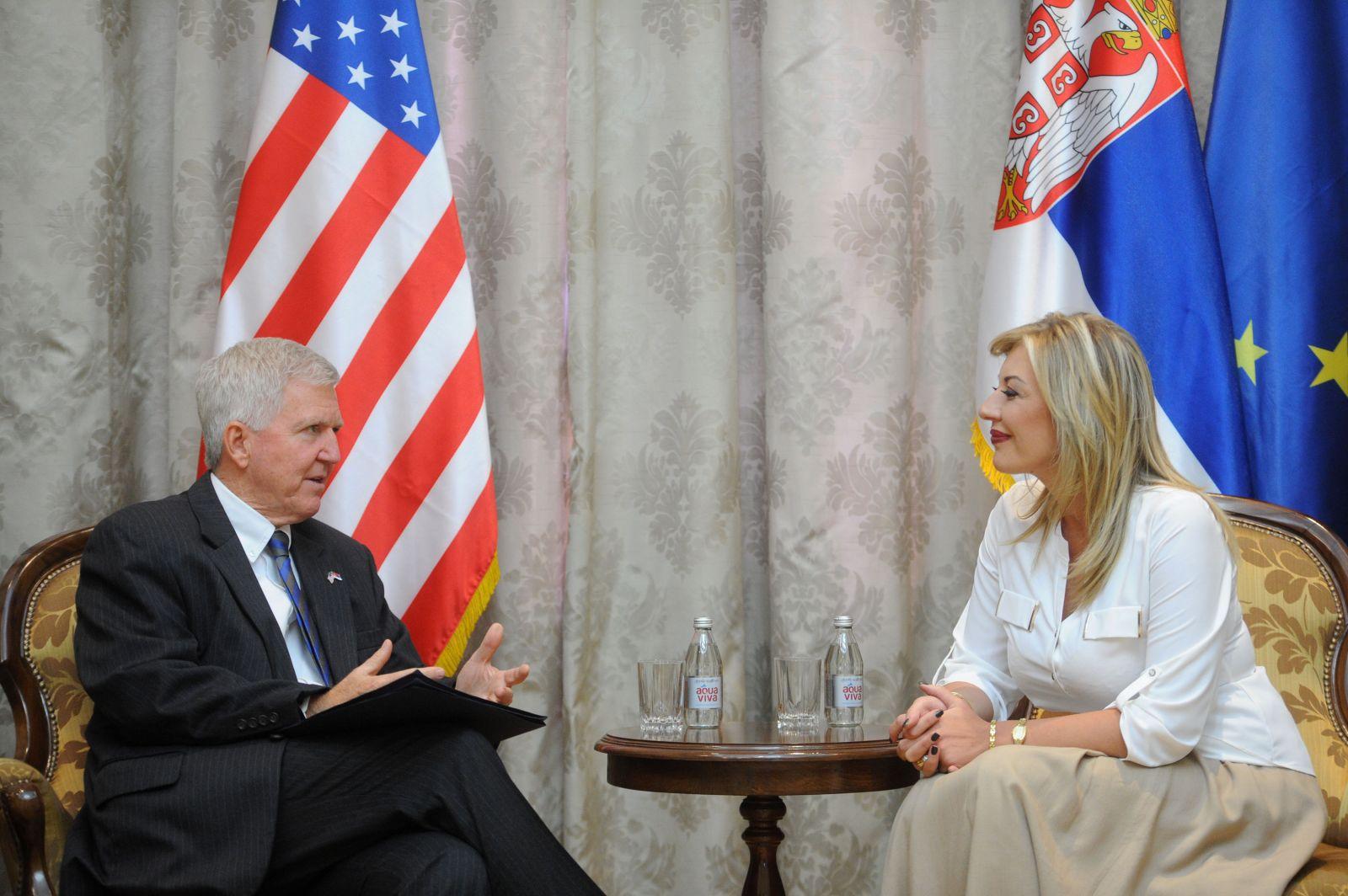 Ј. Јоксимовић и Скат: САД ће наставити да подржавају европске интеграције Србије