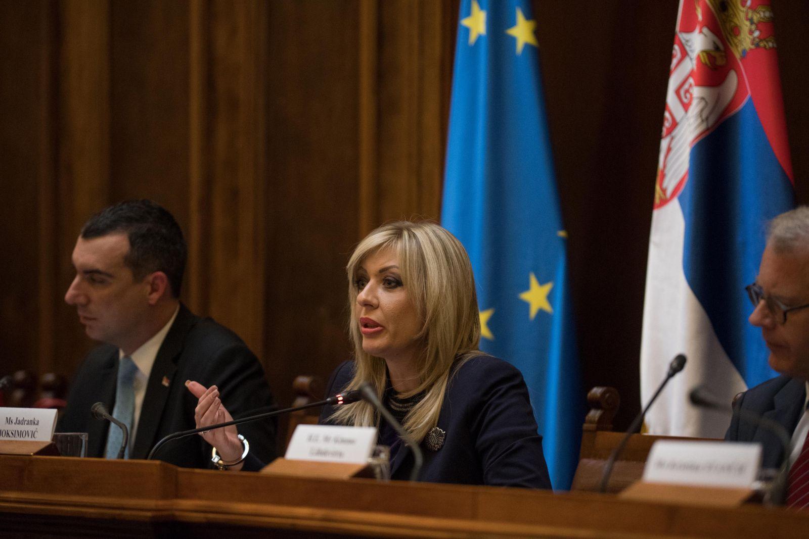 Ј. Јоксимовић: Србија, као кандидат за ЕУ, показује велику одговорност