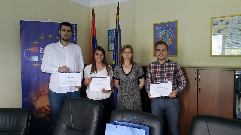 Awards granted for the best student papers on the EU