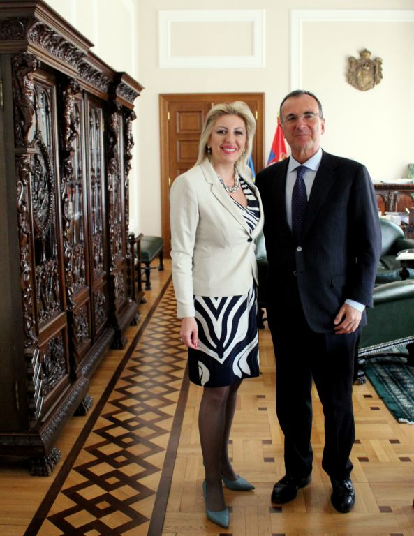 J. Joksimović and Frattini: Serbia is committed to progress and stability of the region