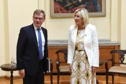 Министар Јадранка Јоксимовић и др Јохан Вадефул