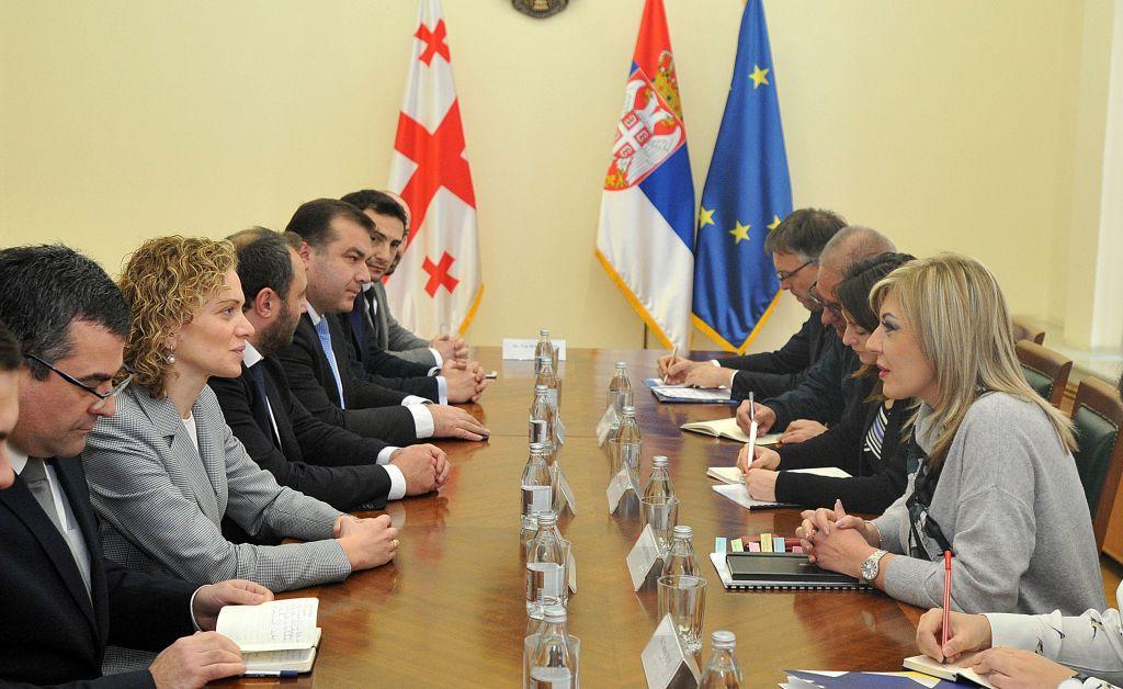 Ј. Јоксимовић и Кулордава: Искуства Србије из процеса европских интеграција драгоцена за Грузију
