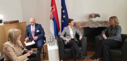 Састанак председнице Владе Ане Брнабић, министра за европске интеграције Јадранке Јоксимовић са потпредседницом Европске комисије и Високом представницом ЕУ за спољну и безбедносну политику Федериком Могерини