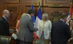 Ј. Јоксимовић и сенатори из Француске
