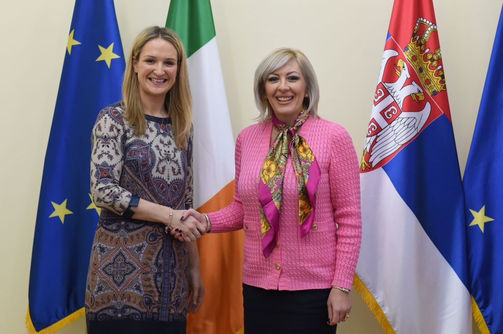 Ј. Јоксимовић и Мекенти: Ирска подржава европске интеграције Србије