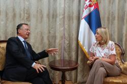 Јадранка Јоксимовић и Франко Фратини