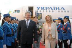 Министар за европске интеграције Јадранка Јоксимовић и председник Украјине Петро Порошенко.