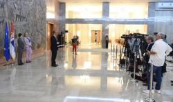 Конференција за новинаре након састанка са амбасадорима земаља чланица ЕУ у Србији